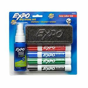 Expo Low Odor Dry Erase Marker Set With White Board Eraser And Cleaner Chis