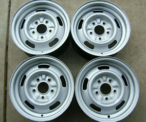 Gm Original14x6 Rally Wheels Code Yw With New Rings Caps Set Of 4