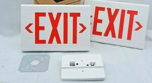 Hubbell Lighting Thermoplastic Lx Led Exit Sign Dual Lite Lxurwe 120 277vac