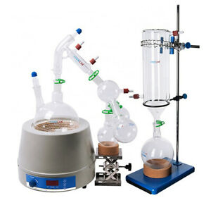 Joanlab Lab Distillation Kits 2l Short Path With Cold Trap Heating Mantle