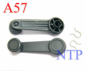 Pair Of Window Crank Gray Winder Cranks Handle For Ford Falcon Courier Ranger 99