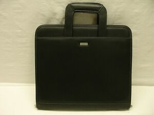 Franklin Covey Day One Black Organizer Planner Zipper Handles Faux Leather