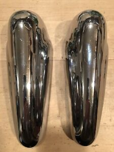 Mga Vintage Original Pair Matched Bumper Overiders Excellent Chrome Lookunused