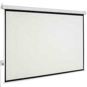 Ktaxon 100 Electric Motorized Projector Screen Hd Movie Projection Screen White