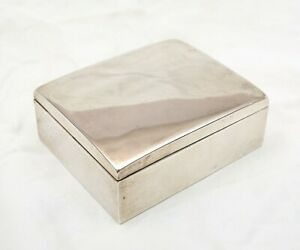 Smith And Smith Sterling Silver Box Jewelry Mementos Collector Trinkets