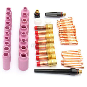 51pcs Tig Kits Tig Welding Torch Accessories Consumables Fit For Wp 17 18 26