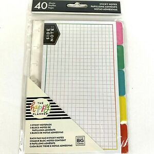 The Happy Planner 5 Sticky Notes Pad Tabs Snap In Inserts Mambi Mini