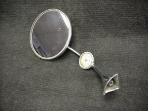 Vintage Tel Tru Thermometer Chrome Side Mirror Accessory Ford Dodge Buick Olds