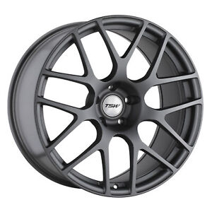 18 Inch 5x112 Wheel Rim Tsw Nurburgring 18x8 45mm Gray