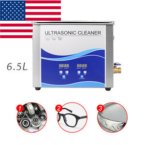 Portable 6 5l Ultrasonic Cleaner Stainless Steel Industry Heated Heater W timer