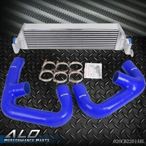 For Vw Golf R Gti Mk7 Performance Aluminum Twin Intercooler Upgrade Blue Pipe