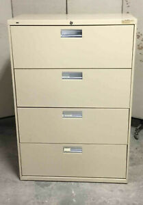 Filing Cabinet 4 drawer 19x36x53h Hon File Beige Legal letter Size Lateral