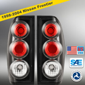For 1998 2004 Nissan Frontier Altezza Tail Lights Lamps Pair Lh Rh Black Clear