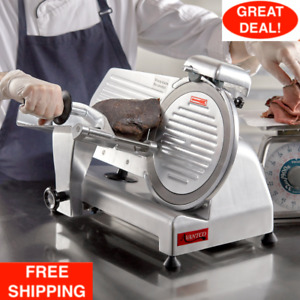10 Commercial Manual Gravity Feed Electric Countertop Meat Slicer 1 4 Hp 320w