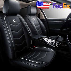 Us 5 seat Car Moon Pu Leather Seat Covers For Honda Accord Civic Crv Universal