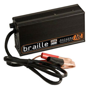 Braille Auto Battery 12v Agm Battery Charger P n 12310