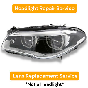 2014 2016 Bmw 5 series F10 Adaptive Headlight Lens Replacement Service 14 15 16