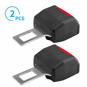 2pcs Universal Car Seat Safety Belt Buckle Extension Extender Clip Alarm Stopper