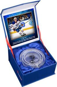 Connor Mcdavid Edmonton Oilers Nhl Debut Crystal Puck W Ice From Nhl Debut