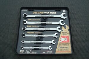 Craftsman Combination Quick Wrench Set 6pc 9 42356 5 16 5 8 Inch Made In U s a