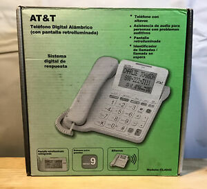 At t Corded Backlit Telephone Cl4940 Digital Answering System