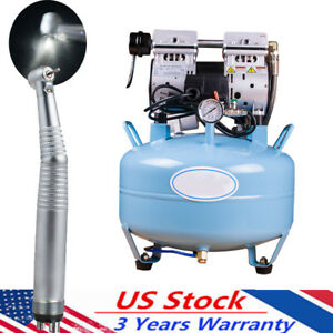 Portable Dental 30l Air Compressor Silent Quiet Noiseless Oil Free Oilless gift