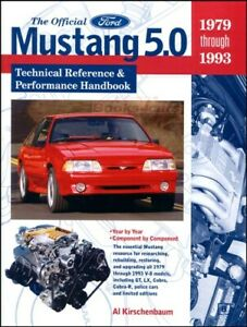 Mustang 5 0 Ford Performance Manual Technical Reference Book Gt 1979 1993