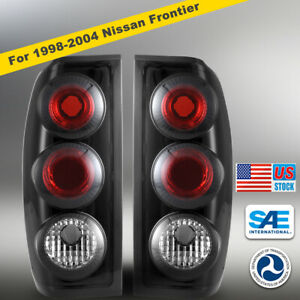 For 1998 2004 Nissan Frontier Lamp Tail Lights Altezza Black Smoke