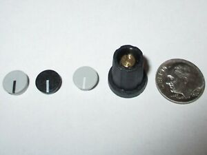 1 8 Shaft Collet Knobs W cap Nut Cover 11 Mm Sifam selco Sn110 125 Black