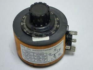 Superior Powerstat Type 10c Variable Transformer In 120v Out 0 132vac Tested