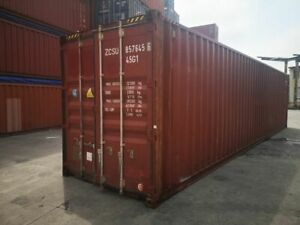 Used Shipping Storage Containers 40ft High Cube Tampa Fl 3400
