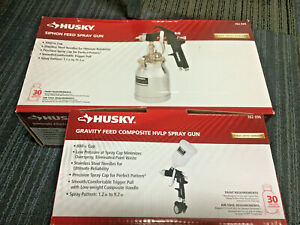 2 New Husky Spray Guns Siphon Feed And Gravity Feed Hvlp