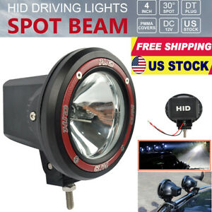 4 Inch Round Hid Xenon Driving Light Spotlight Working Lamp 55w For Suv Offroad