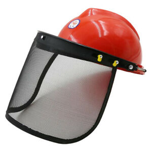 Chainsaw Safety Face Shield Head Protector With Mesh Visor For Trimming