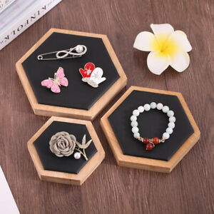 Storage Bracelet Ring Necklace Hair Band Jewelry Display Tray Black Leather