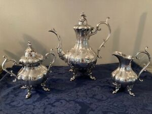 Reed And Barton Silverplate Tea Set The Winthrop Hand Chased