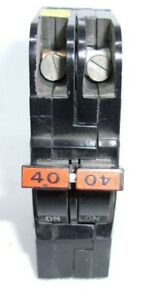 Nc0240 Federal Pioneer 40a Double Pole Thin Circuit Breaker Fpe Stab lok