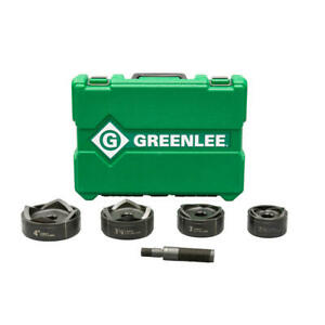 Greenlee 7304 Standard Round Knockout Set For Hydraulic Drivers 2 1 2 To 4