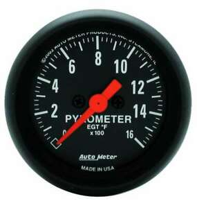 Auto Meter 2 1 16in Z series Egt Pyrometer Kit 0 1600