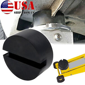 Rubber Jack Pad Disk For Jack Stands Slotted Rail Floor Jacking Car Lift Adapter