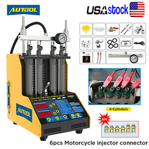Autool Ct160 Fuel Injector Tester Cleaner Cleaning Machine Ultrasonic Heating