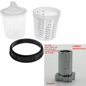 M14mm 1 Internal Thread Adapter 600ml Disposable Paint Cup H O Quick Cup Kit