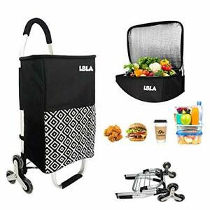 Shopping Cart Groceries Wheels Foldable Travel Rolling Cooler Climbing Driving