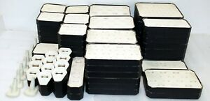 82 Assorted Jewelry Showcase Ring Displays Faux Leather