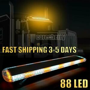 48 88 Led Strobe Light Bar Emergency Beacon Response Amber White Warn Tow Truck