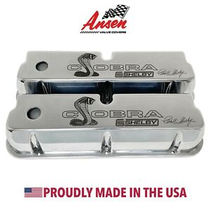 Ford Carroll Shelby Cobra Tall Valve Covers Polished Premium Series Ansen