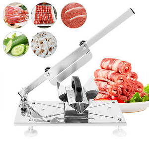 Stainless Steel Manual Frozen Meat Slicer Food Cutter Machine Home Use 0 3 15mm