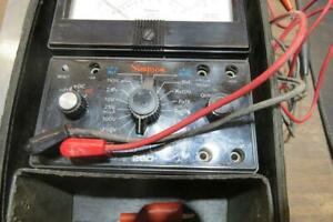 Simpson 260 6 Multimeter W case leads Completely Tested Excellent Condition