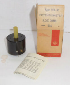 Vintage General Radio Type 976 m Potentiometer 5000 5k Ohm Nos