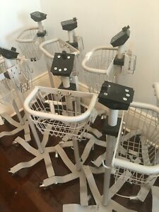 lot Of 9 Welch Allyn 300 Series Patient Monitor Mobile Stand 420 Spot Lxi